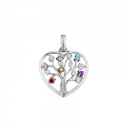 Julie Julsen heart pendent JJPE0235.1 TREE OF LIFE in silver