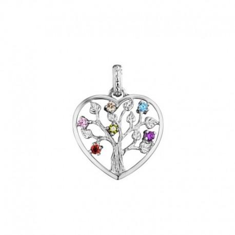 Julie Julsen heart pendent JJPE0235.1 TREE OF LIFE in silver