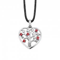 Julie Julsen heart pendent JJNE0235.7 TREE OF LIFE in silver
