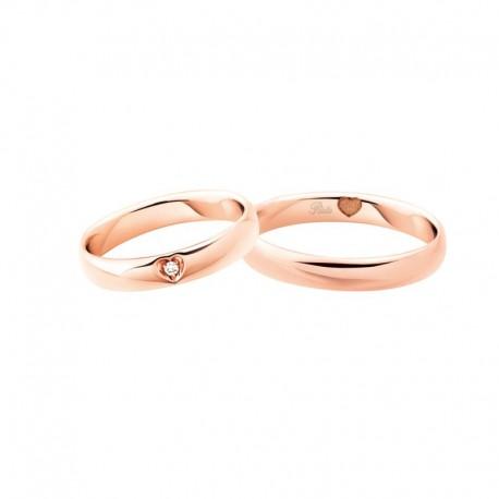 Polello Fedi comode oro rosa diamanti 3121 pensieri d'amore altezza 3,9 mm