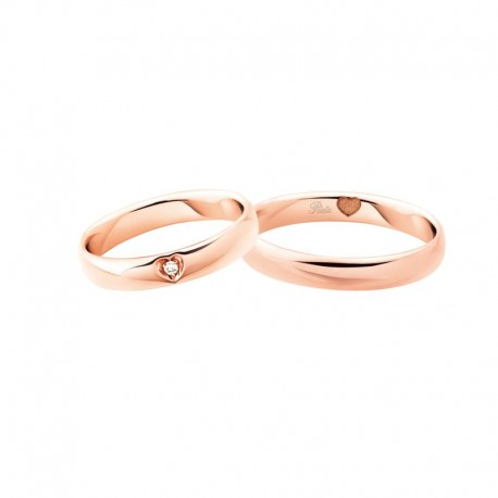 Polello comfort WEDDING RINGS collection 3121 width 3,9 mm in gold and diamonds