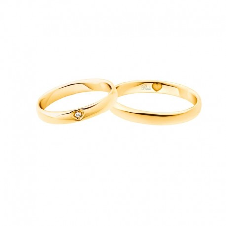 Polello Fedi comode oro giallo diamanti 3120 pensieri d'amore altezza 3,4 mm