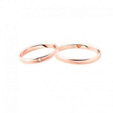 Polello Fedi comode oro rosa diamanti 3119 pensieri d'amore altezza 2,9 mm