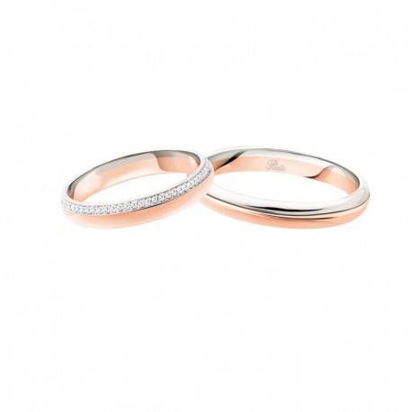 Polello wedding ring dreams of love collection 3116 width 3,3 mm in gold and diamonds