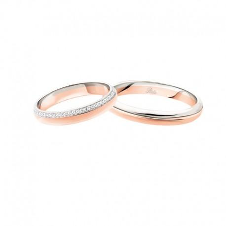 Polello Fedi oro rosa con giro di diamanti 3116 sogni d'amore altezza 3,3 mm