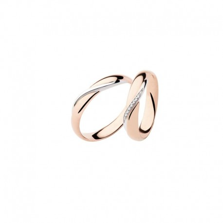 Polello wedding ring anniversary collection 2892 width 4,2 mm in gold and diamonds