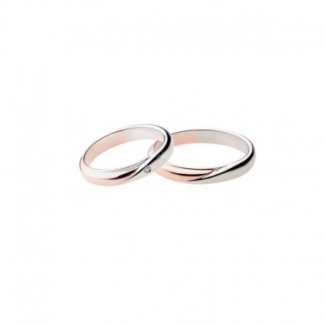 Polello wedding ring collection 2700 width 3,7 mm in gold and diamond