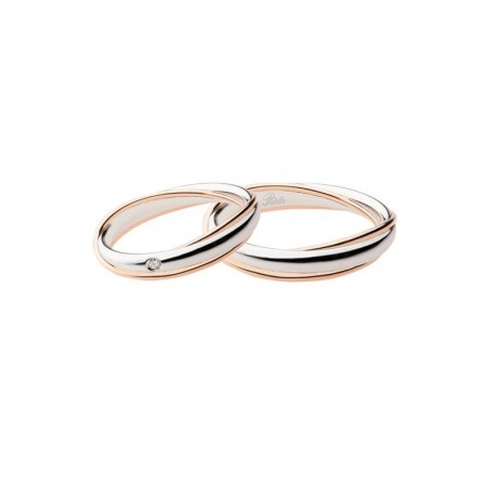 Polello wedding ring anniversary collection 2692 width 4,2 mm in gold and diamond
