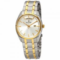 Bulova watch 98c127 bi-color classic collection quartz muvement