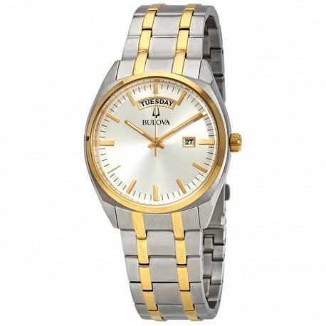 Bulova watch 98c127 bi-color classic collection quartz muvement