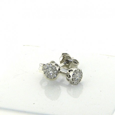 jewelry earrings flower diamonds collection dflw-or34 in gold