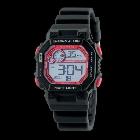 Navigare Digital movement chrono Kos collection NA206-02 water resistant 100m