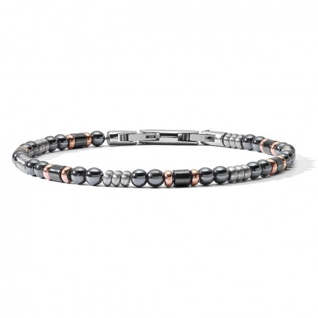 Bracelet Comete District collection ubr 926 in steel with hematite