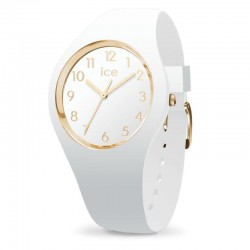 Orologio ICE Watch GLAM 015339 medium bianco e dorato con numeri arabi
