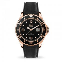 Orologio Ice Watch Steel 016766 nero con cassa in PVD oro rosa