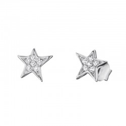 Engelsrufer earrings ERE-LILSTAR-ZI-ST star in silver with zircons