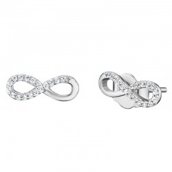 Engelsrufer earrings ERE-LILINFINITY-ST infinity love in silver with zircons