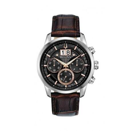 Bulova Watch 98b311 Mens Classic Watch CHRONOGRAPH oversized date