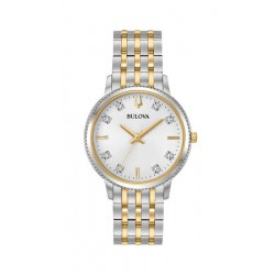 98p189 Bulova Diamond classic quartz collection