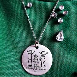 Medaglia personalizzabile in argento ed oro