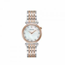 Bulova 98P192 Orologio Da Donna Con Diamanti collezione Regatta Classic