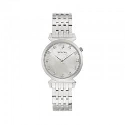 Bulova 96p216 Orologio Da Donna Con Diamanti collezione Regatta Classic