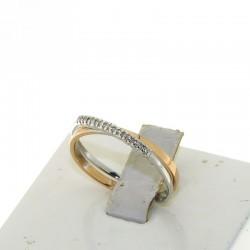 Nostre Creazioni Anello intreccio d'amore oro e diamanti D-AN1732