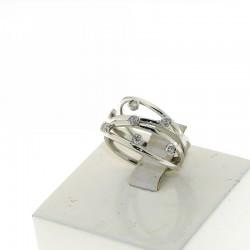 Nostre Creazioni Anello abbraccio d'amore oro e diamanti D-MGD3187