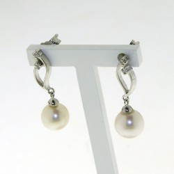 Earrings PEARLS collection in gold with diamonds D-OR4970