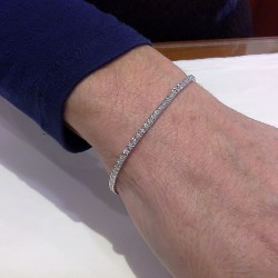 TENNIS BRACELET in white gold with diamonds D-TEN-0005