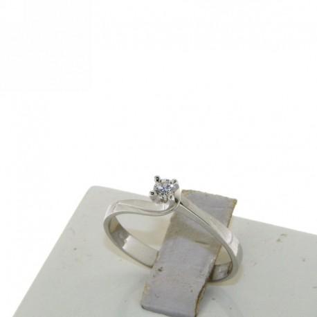 solitaire diamond engagement ring D-4271-10 gold 18k
