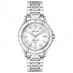 Bulova watch 96P201 Marine Star Diamonds collection