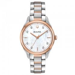 Bulova 98P183 Ladies Classic Watch Sutton collection with diamonds