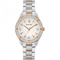 Bulova 98R281 Orologio Donna Con Diamanti collezione Sutton Classic