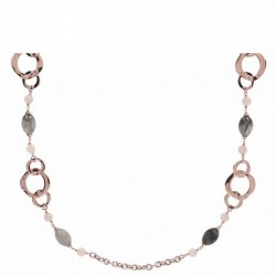 Bronzallure long necklace ref. BZ00988 in 18k rose gold plated