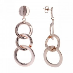 Bronzallure earrings ref. BZ00084 in 18k rose gold plated