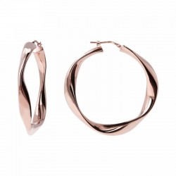 Bronzallure circle earrings ref. bz00994 in 18k rose gold plated