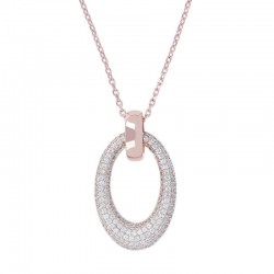 Bronzallure long necklace ref. BZ00672 in 18k rose gold plated