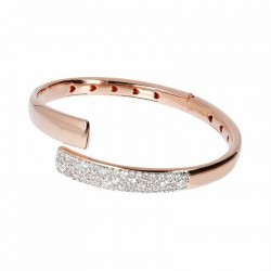 Bronzallure bangle bracelet ref. BZ01441 in 18k rose gold plated