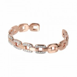 Bronzallure bangle bracelet ref. BZ01478 in 18k rose gold plated
