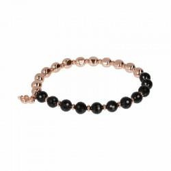 Bronzallure elastic bracelet ref. BZ01431 in 18k rose gold plated