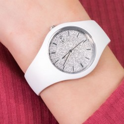 Ice Watch GLITTER small collection 001344 white strap