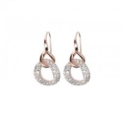 Bronzallure pendent earrings ref. BZ01208 in 18k rose gold plated