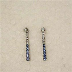 Salvini 71238063 orecchini pendenti zaffiri blu diamanti