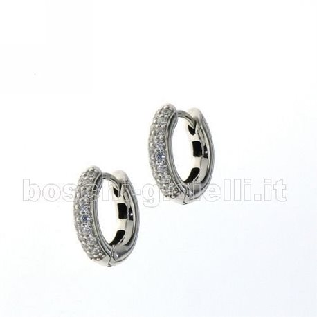 TI SENTO MILANO 7210zi silver earrings with zircons