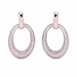 Bronzallure pendent earrings ref. BZ00573 in 18k rose gold plated