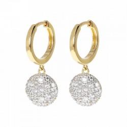 Bronzallure pendent earrings ref. BZ01592Y in 18k yellow gold plated