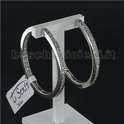 TI SENTO MILANO 7402zi silver earrings with zircons