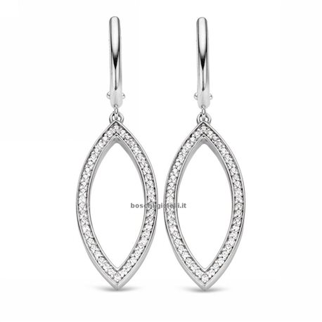 TI SENTO MILANO 7719zi silver pendent earrings with zircons