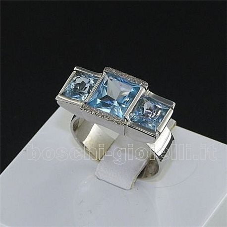 OUR CREATIONS trology ring blue topaz gemstones